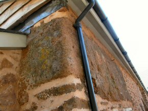 New uPVC guttering on barn conversion